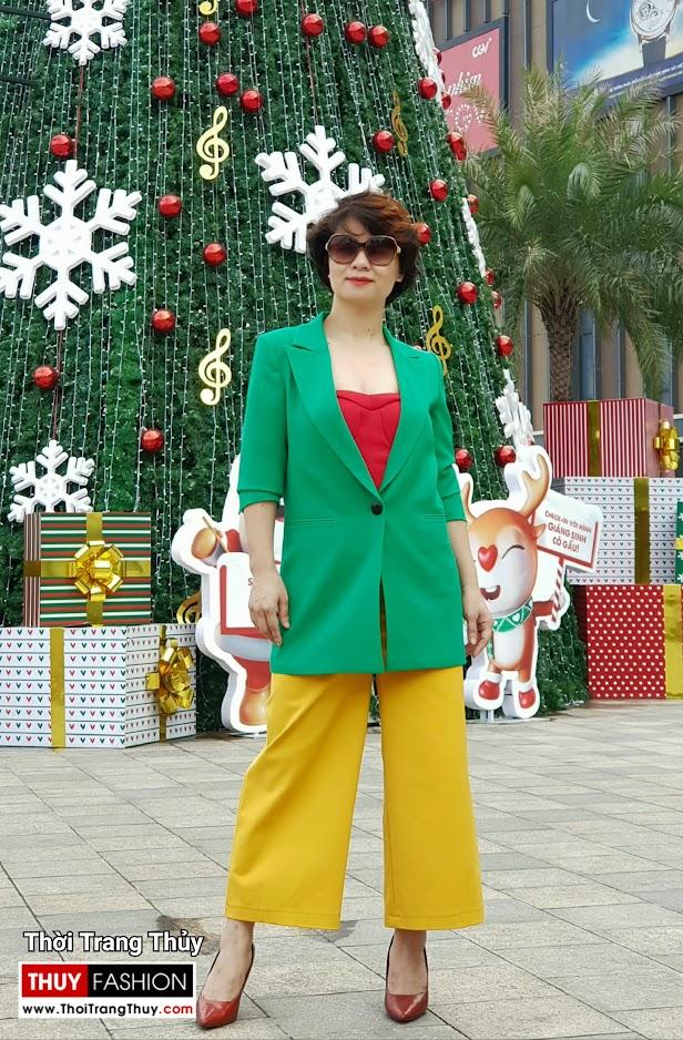 Áo vest nữ dáng suông mix quần culottes áo croptop V696 thời trang thủy thái bình