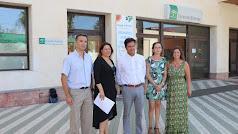Parlamentarios del PP con el alcalde de El Ejido y el concejal de Sanidad
