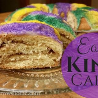 Easy King Cake for Mardi Gras.
