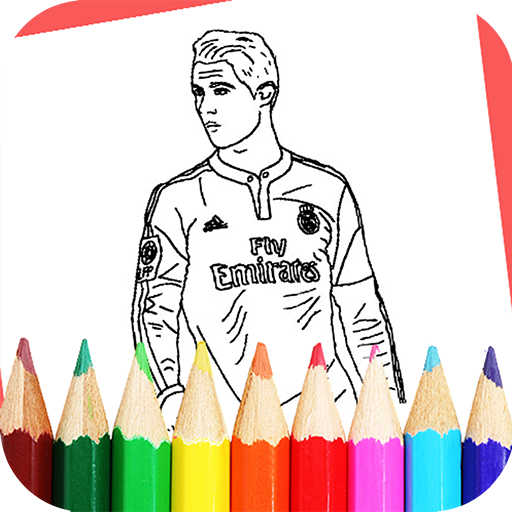 How to color Cristiano Ronaldo CR7 coloring Book