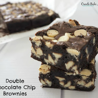 Double Chocolate Chip Brownies.