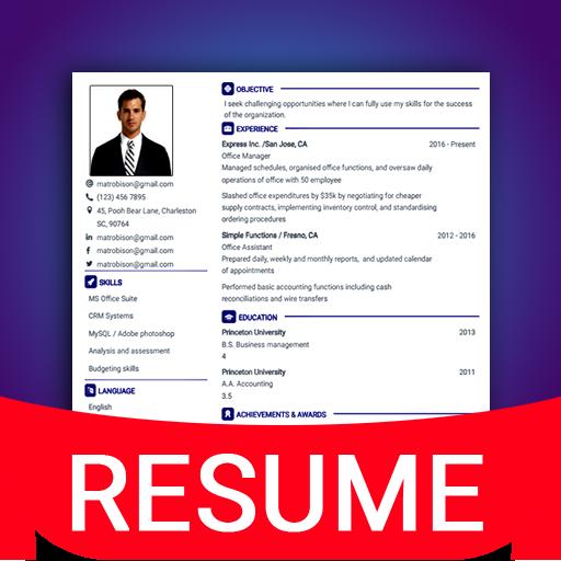 resume builder app free cv maker cv templates 2020 on
