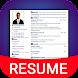 Resume Builder App Free CV maker CV templates 2020
