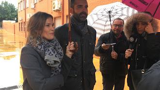 El alcalde, esta mañana en una visita al fin de las obras en la calle Guadarrama.