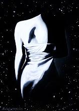 Photo: 403, Нетронина Наталья, Серия ОН и ОНА - Одиночество, Масло, замша (живопись по бархату), 40х30см,