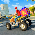 ATV Pizza Bike Rider Delivery Boy icon