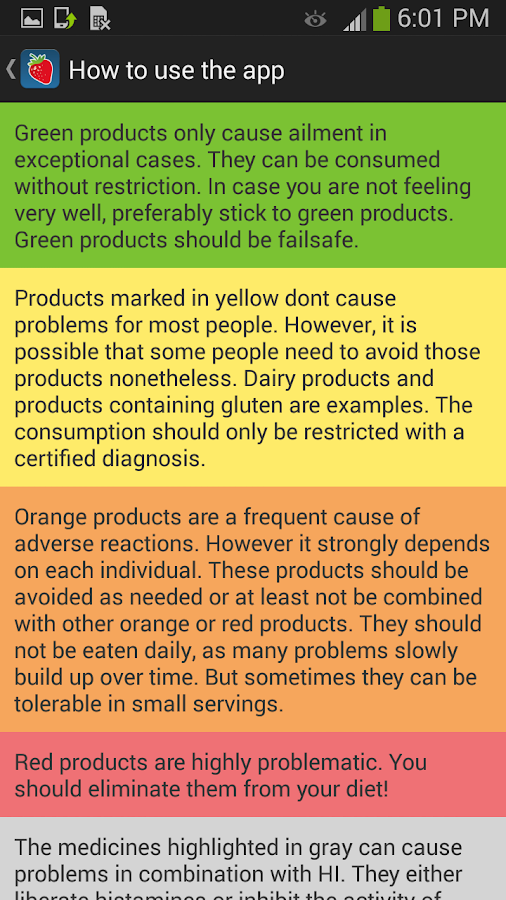 Food Intolerances - screenshot