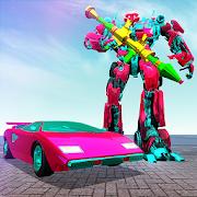 Super Flying Robot Car