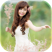 Girl And Flowers LiveWallpaper