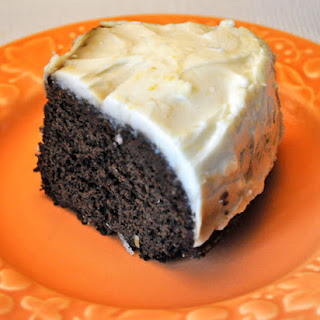 Old-Fashioned Gingerbread Cake, Lemon Cream Cheese Frosting.