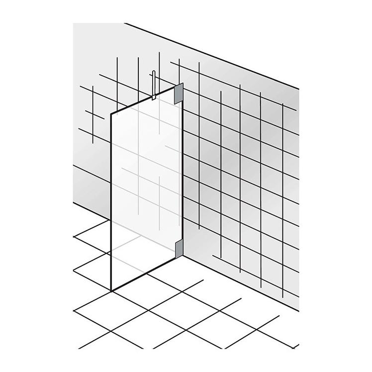 Cabines de douche  _K2, Seitenwand zu K2
