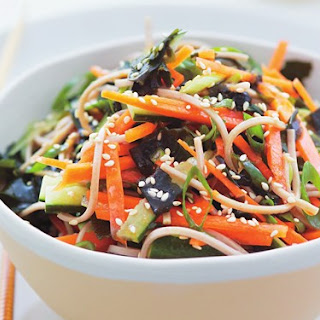 Soba Salad With Seaweed, Ginger And Vegetables