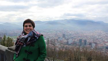 María Docavo durante un viaje a Bilbao.