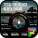 Black Total launcher theme icon