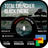 Black Total launcher theme