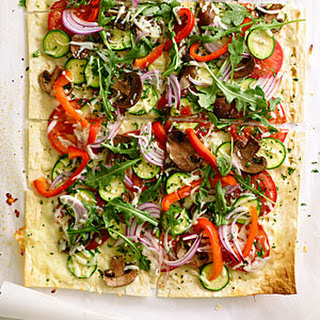 Herbed Flatbread Pizzas.