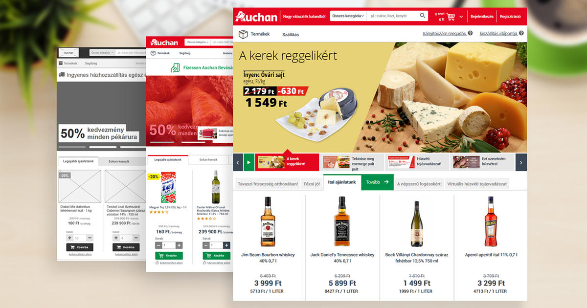 Webshop fejlesztés az Auchan számára