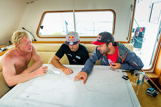 Photo: Planning our next adventure with our captain Mathieu