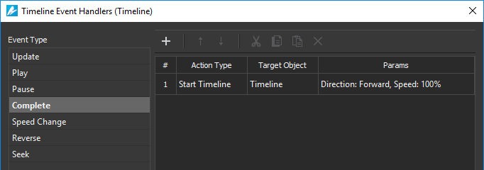Use event actions and timeline triggers to add interactivity.