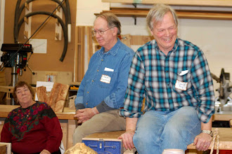 Photo: Our Panelists for the evening, Sally Giarratana, Chuck Engstrom, and David Fry, share a light moment.