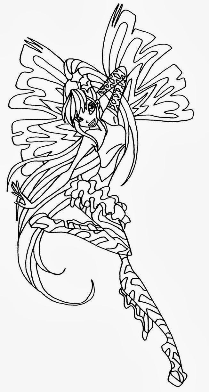 disegni da colorare winx stella