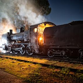 age of steam by Gary Parnell - Transportation Trains ( maldon, train, steam )