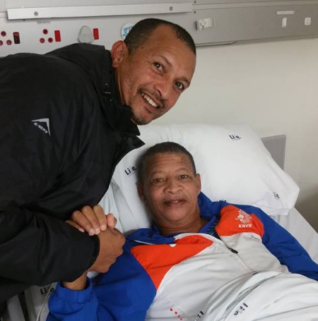 Jeremy Wyngaard posted this picture of him with Reggie Jantjies on July 6 2018 during a visit to the former Cape Town Spurs and Hellenic star player in a rehab centre in Cape Town.