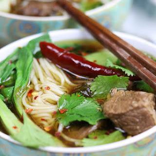 Beef Asian Noodle Soup.