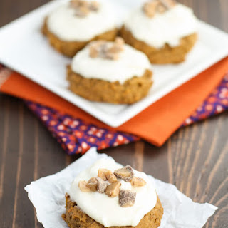 Spiced Pumpkin Cookies with Cream Cheese Frosting