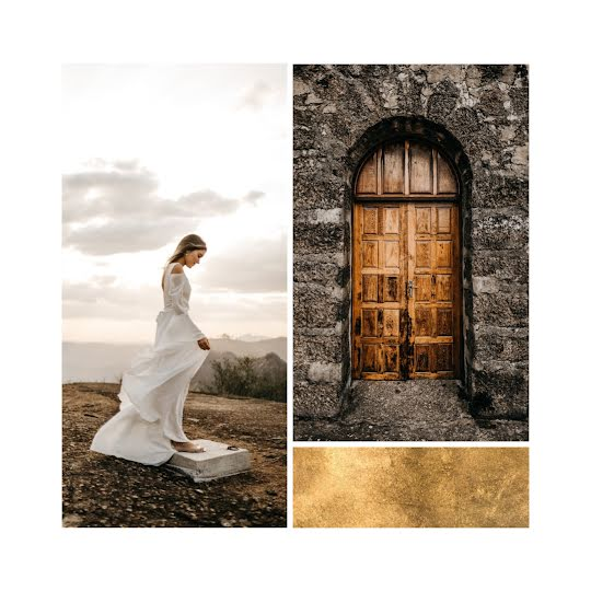 Chapel & Dress Collage - Wedding Template