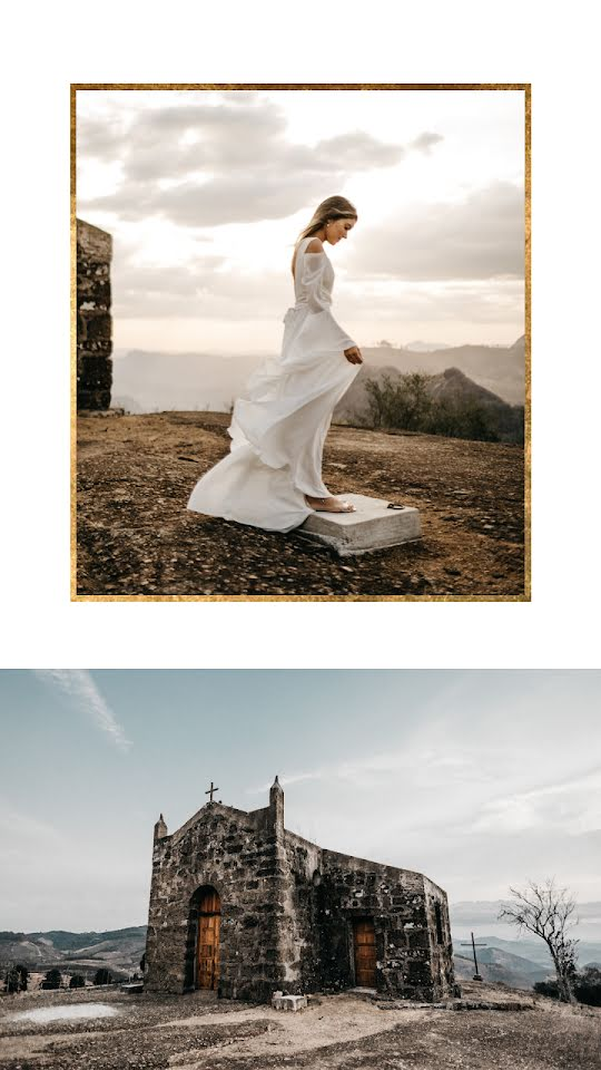 Dress & Chapel Collage - Wedding Template