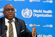 Guinea's Minister of Health Remy Lamah speaks during a World Health Organization (WHO) virtual press conference following a  meeting on building resilient systems for health in Ebola-affected countries, in Geneva December 11, 2014.