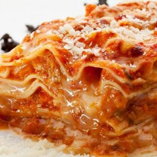 Five Ingredient Chicken Parmesan Lasagna (Slow Cooker or Stove).
