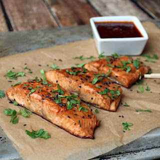 Ginger Sesame Glazed Salmon