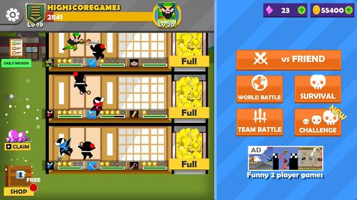 Jumping Ninja Battle - Two Player battle Action 3.95 screenshots 12