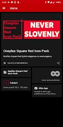 Square Red Icon Pack Oneplus Style APK screenshot thumbnail 5