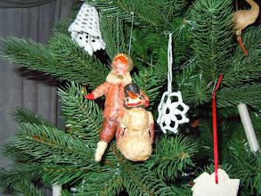Photo: старинная елочная игрушка Мальчик со снеговиком от Елены Малишевской