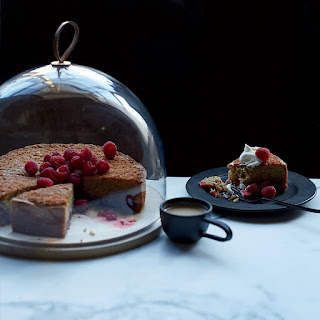 Raspberry Whole-Wheat Butter Cake