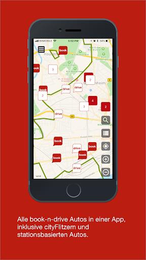 book-n-drive carsharing screenshot 3