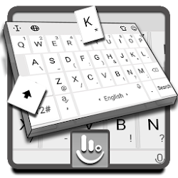 Pearl White Keyboard Theme