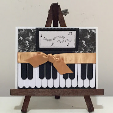 """Playing Piano"" (Birthday Card)"