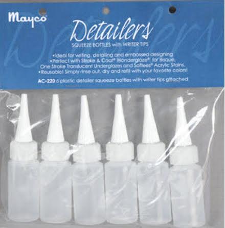 Detaljflaska - Detailer Squeeze Bottles - 6 st.