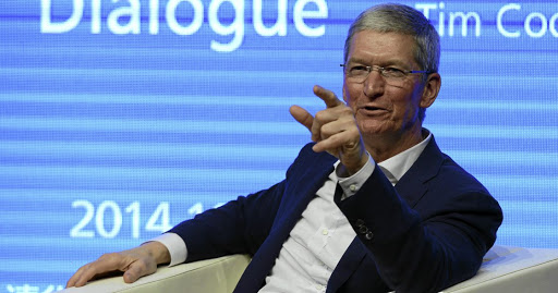 Looking on bright side: Apple CEO Tim Cook remains upbeat on growth despite the company only selling 3.2-million iPhones in 2017 and recording a weak first half in 2018. High tariffs in India inflate the price tag of iPhones and consumers steer towards cheaper alternatives. Picture: REUTERS