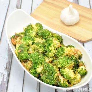 Roasted Sriracha Broccoli.