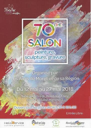Aquarelle Jeanne PAPA _affiche Salon d'art de Moret sur Loing 2018 2018