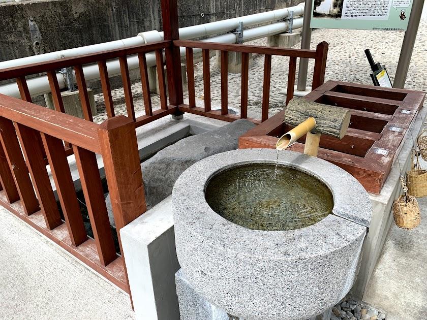 つなぎ源泉公園・手湯