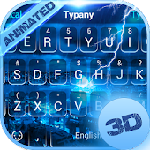 Lightning Storm 3D Theme&Emoji Keyboard