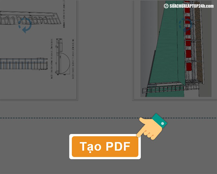 Tạo PDF để tạo file đã chỉnh sửa