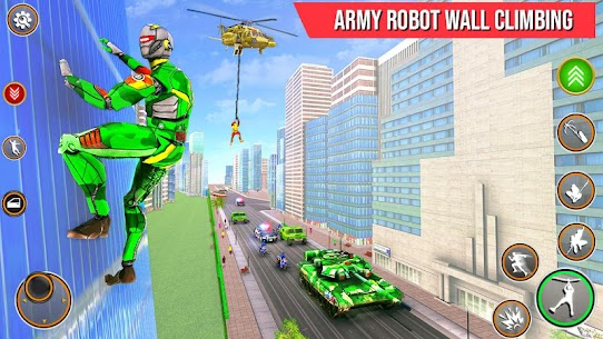 Army Robot Rope hero – Army robot games 4