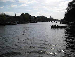 Photo: View from the bridge across the Amstel.